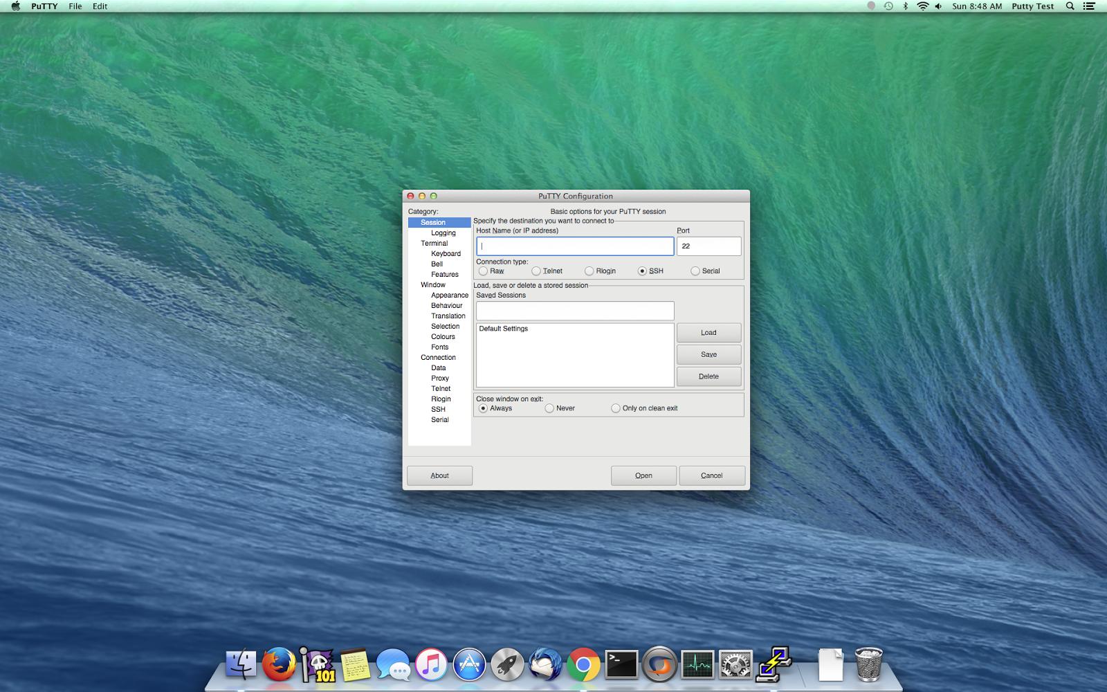 terminal emulator – Putty for Mac