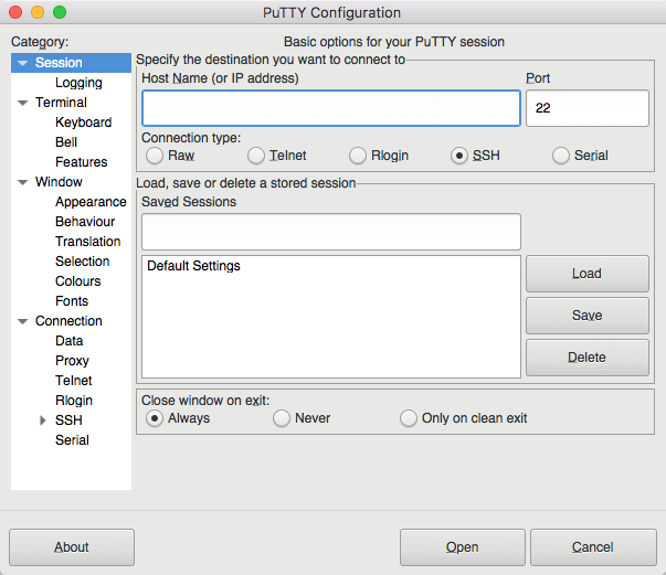 Putty for Mac 7 5 has been released – Putty for Mac